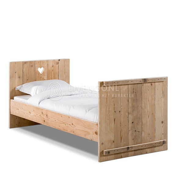 White Wash Peuterbed.Steigerhouten Kinderbed Sunnii